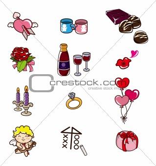cartoon Valentine's Day icon