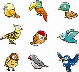 cartoon bird icon