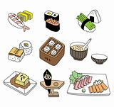 Japanese sushi food