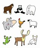 cartoon animal icon