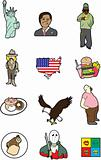 cute America cartoon element