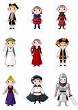 cartoon medieval people