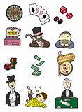 cartoon casino icon