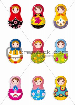 cartoon Russian dolls
