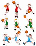 cartoon basketball player icon