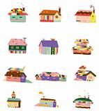 cartoon color house icon