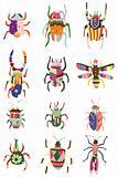 cartoon color bug icon