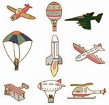 cartoon air transport icon