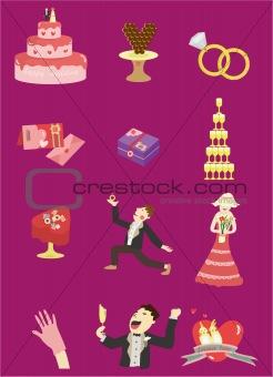 cartoon Wedding icon
