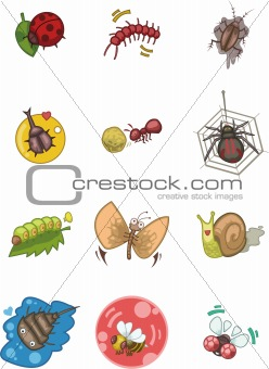 cartoon bug icon