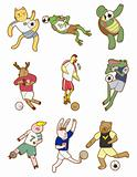 cartoon animal soccer icon
