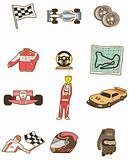cartoon f1 car icon