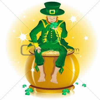 Saint Patrick and pot gold