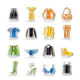 Simple Clothing and Dress Icons