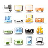 Simple Hi-tech equipment icons