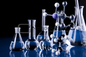 Molecular Model,  Laboratory glass