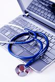 Computer and  Stethoscope