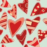 seamless pattern isolated hearts