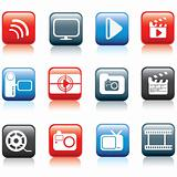 Photo and multimedia icon set