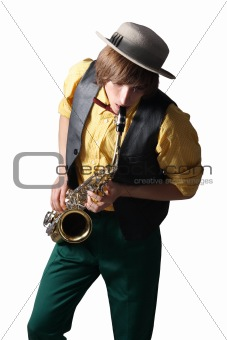 Man with a sax