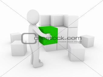 3d human cube