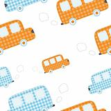 seamless wallpaper with cute fabric cars