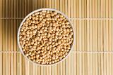 soya beans in ceramic bowl