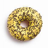 sweet doughnut on white
