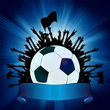 Grunge Soccer Ball background. EPS 8