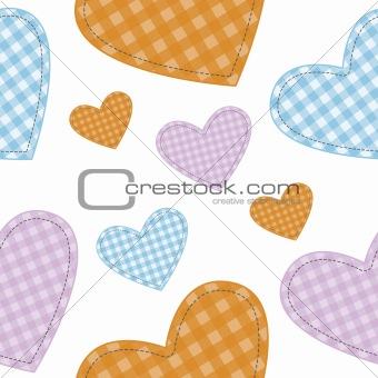 seamless vector hearts