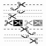 Scissors template for design. EPS 8