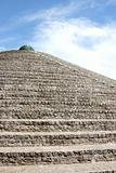 Pyramid of bricks against the sky, Ukraine