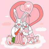 Rabbit valentine