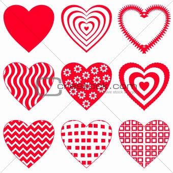 Valentine heart, set