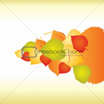 Abstract backgrounds with fall Leafs