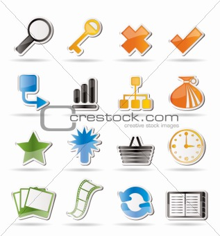 Simple Internet and Web Site Icons