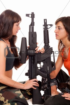 Image of a two armed girls