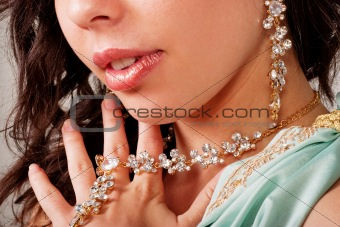Beautiful lady with necklace