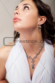 Beauty with necklace