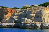 Cliff and grottos at Carvoeiro