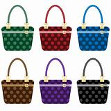 Ladies fashion handbags set