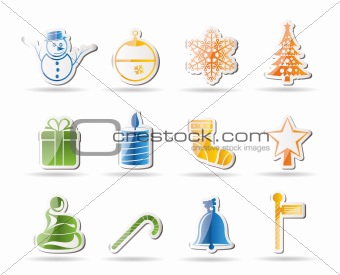 Beautiful Christmas And Winter Icons
