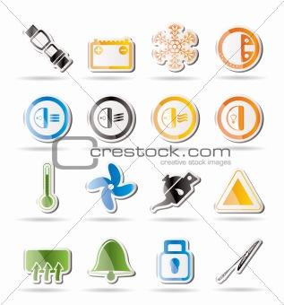 Car Dashboard icons