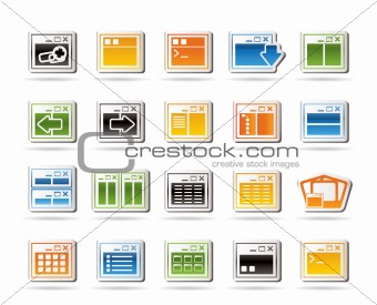 Application, Programming, Server and computer icons