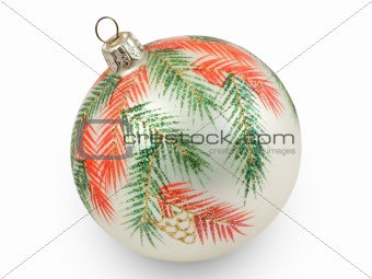 Christmas ball with branches
