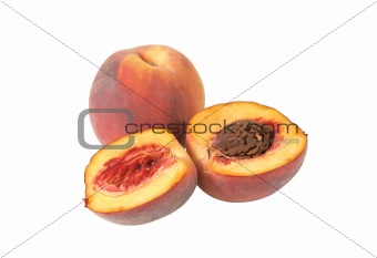 sweet peach isolated on white background