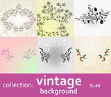 collection vintage background