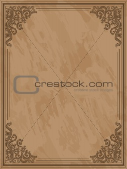 Grunge frame with a floral elements