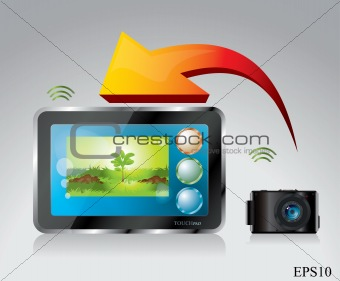 Small camera and touchpad