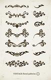 set of vintage decorative patterns